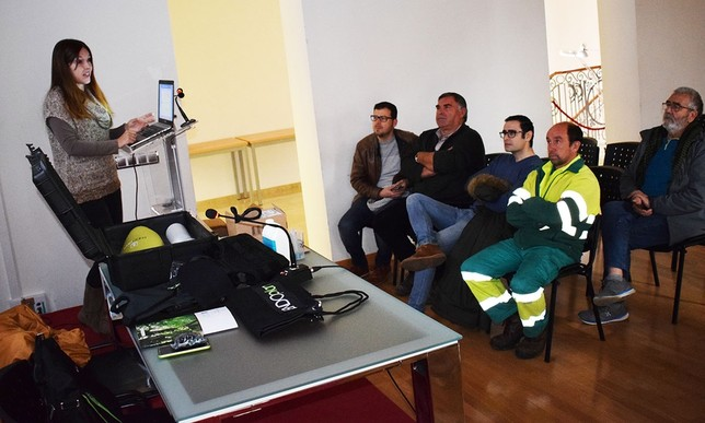 Presentación del equipo a personal de Medio Ambiente.